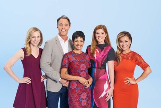 The YOUR MORNING team (from L to R): Kelsey McEwen (Weather Anchor), Ben Mulroney and Anne-Marie Mediwake (Hosts), along with Lindsey Deluce (News Anchor) and Melissa Grelo (Late Morning Anchor) (CNW Group/CTV)