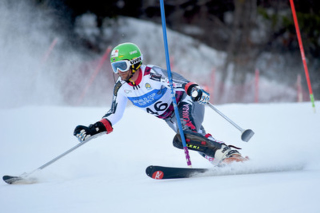 Three-time Paralympian Matt Hallat, of Squamish, BC won a hard-fought bronze medal at the 2015 IPC Alpine Skiing World Championships in Panorama, B.C. today, earning his first ever world championship medal on the very last day of his 13-year national team career (CNW Group/Canadian Paralympic Committee (CPC))