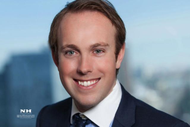 Ryan Hillier, Président de la Jeune Chambre de commerce de Montréal pour le mandat 2014-2015 et avocat chez Blakes. (Groupe CNW/Jeune Chambre de commerce de Montréal)
