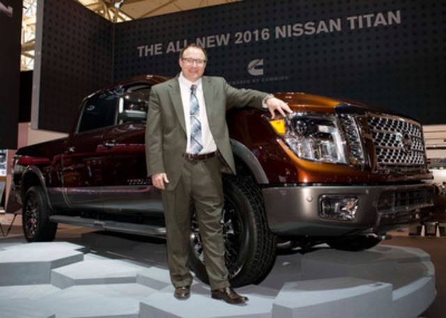 The next-generation Nissan TITAN XD with Rich Miller, Director of Product Planning for all trucks and SUVs, Nissan North America. (CNW Group/Nissan Canada Inc.)