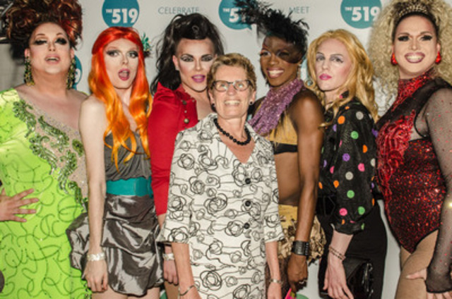 The 519 Community Centre welcomes Ontario Premier Kathleen Wynne and over 5,000 enthusiastic guests at its 6th annual Starry Night fundraiser on June 27, 2013 to kick off The 519's Green Space TO events during Toronto Pride weekend. (CNW Group/The 519 Church Street Community Centre)