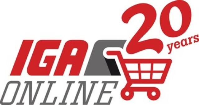 Logo: 20th anniversary - Online grocery IGA (CNW Group/IGA)