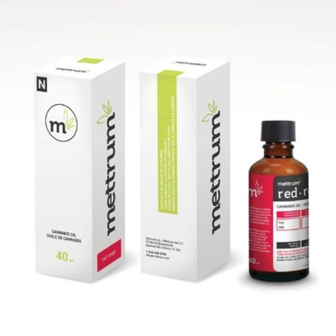 Mettrum Ltd.'s new line of premium Cannabis Oils offers an alternative consumption method for patients. The oils will initially be released in Red, Blue and Yellow varieties, in line with the Mettrum Spectrum(TM). A 40 ml bottle will cost $90. (CNW Group/Mettrum Health Corp.)