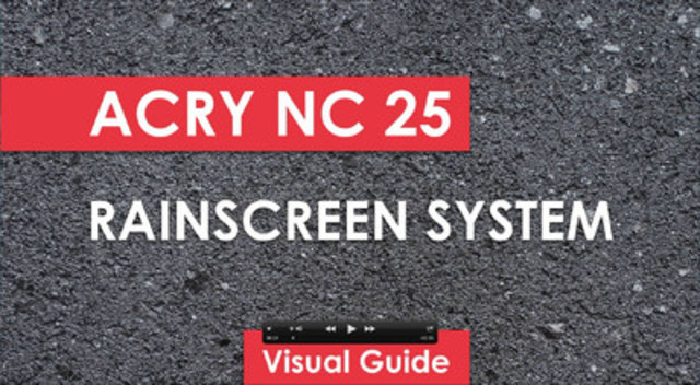Video Screen Capture of ACRY NC 25 Rainscreen System (CNW Group/Acrytec Panel Industries)