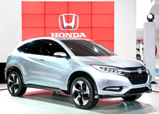 Honda a dévoilé son Concept de VUS urbain compact au Salon international de l'auto du Canada 2013. (Groupe CNW/Honda Canada Inc.)