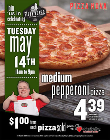 "Pizza Nova's 14th Annual ""Thats Amore, Pizza for Kids"" Charity Fundraiser. Tuesday May 14th, ..."