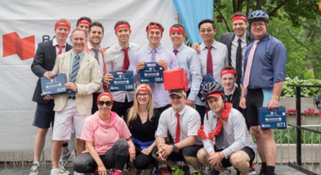 La Banque Nationale était représentée par plus d'une vingtaine d'équipes lors de la 5e édition du Duathlon urbain, le 28 mai dernier. (Groupe CNW/Banque Nationale du Canada)