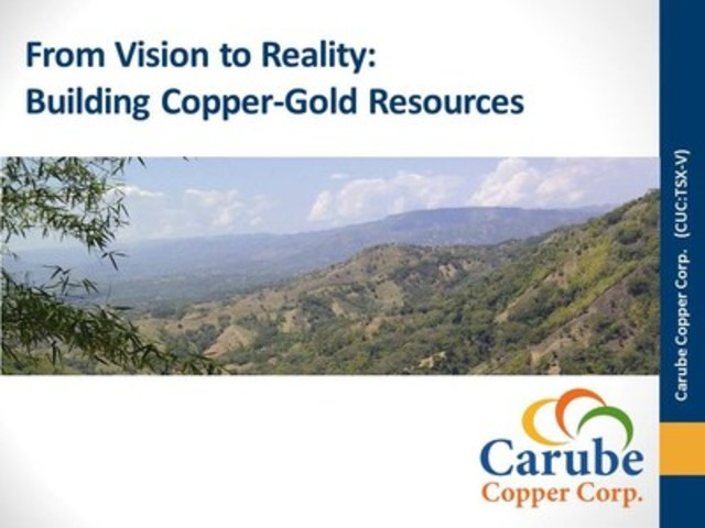 From Vision to Reality:  Building Copper-Gold Resources (CNW Group/Carube Copper Corp)