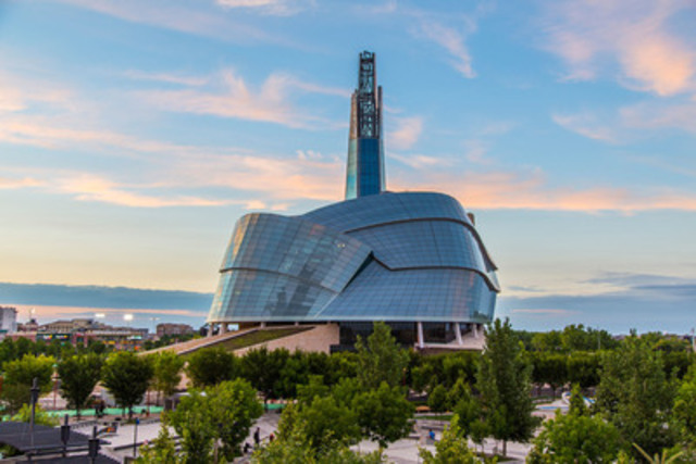 The Canadian Museum for Human Rights is a dramatic addition to the city of Winnipeg, Manitoba, Canada. (CNW Group/PCL Construction)