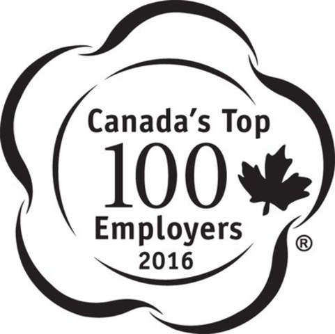 Canada's Top 100 Employers 2016 (CNW Group/Mediacorp Canada Inc.)