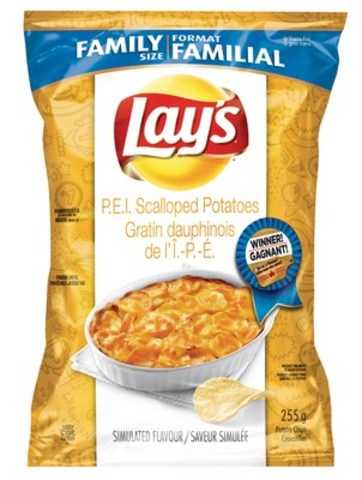 P.E.I. Scalloped Potatoes named top chip in the Lay's® Canada Do Us a Flavour Tastes of Canada™ contest (CNW Group/PepsiCo Canada)