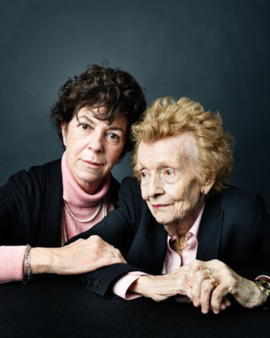 Alexandra and Eleanor Campbell, photographed by acclaimed portrait photographer, Christopher Wahl, as part of the Faces of Caregiving series by Elizz. Canadians are encouraged to follow #ElizzCaregiving on social media and visit elizz.com to view the collection and share their own personal photos and caregiving stories. (CNW Group/Saint Elizabeth Health Care)