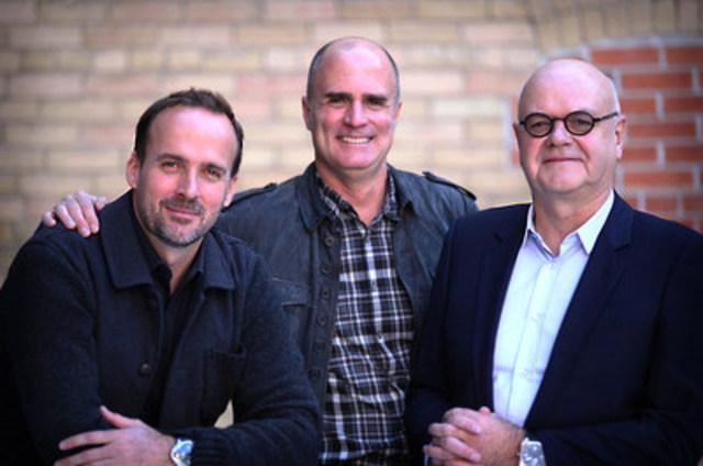 À partir de la gauche : Andrew Bruce, Duncan Bruce et Yves Gougoux (Groupe CNW/PUBLICIS)