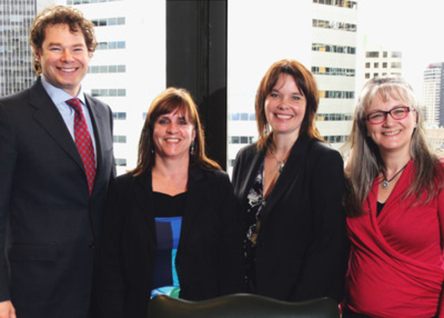Louis Morisset, AMF President and CEO, Catherine Cartier head of the Montérégie CAVAC, Kathleen ...