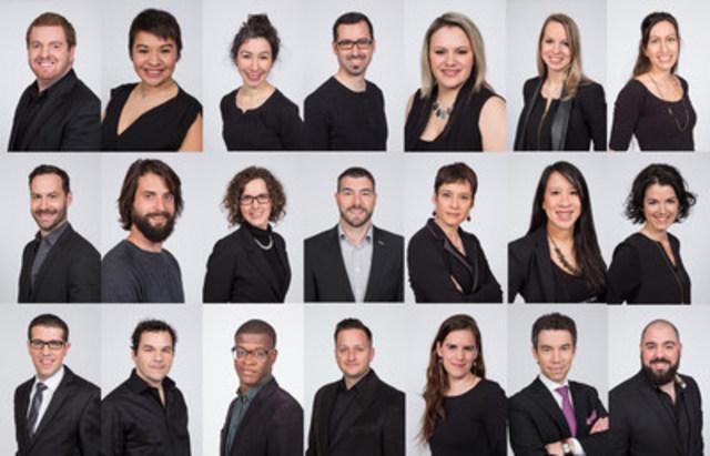 La Jeune Chambre de commerce de Montréal présente les finalistes du Concours provincial ARISTA 2016 (Groupe CNW/Jeune Chambre de commerce de Montréal)