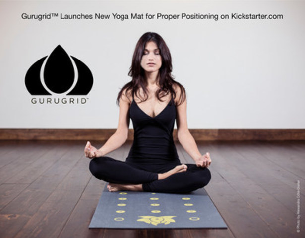 Gurugrid™ Launches New Yoga Mat for Proper Positioning on Kickstarter.com (CNW Group/yoga gurugrid)