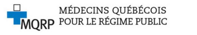 Logo : Médecins québécois pour le régime public (MQRP) (Groupe CNW/Médecins québécois pour le régime public (MQRP))