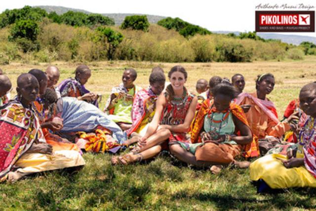 La campagne printemps/été 2013 a été capturée sur place au Kenya, avec son ambassadeur de marque du projet Pikolinos Maasaï, soit Olivia Palermo. (Groupe CNW/Chaussures Estrada)