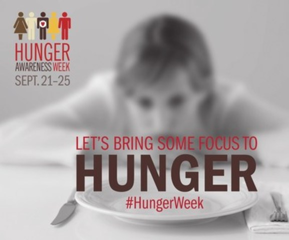 Hunger Awareness Week - Let's Bring Some Focus to Hunger (CNW Group/Food Banks Canada)