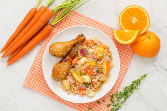 Poulet à l'orange exquis - recette offerte par UNCLE BEN'S® (Groupe CNW/UNCLE BEN'S® Canada)