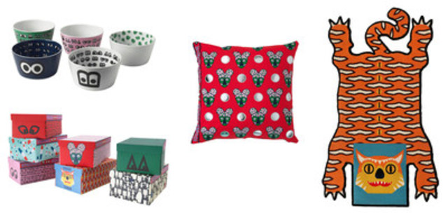 Collection GLODANDE, collaboration Walter Van Beirendonck, le designer de mode, chez IKEA en juin 2016 (Groupe CNW/IKEA Canada)
