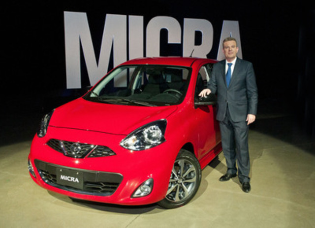 Tonight, at a media event in Montreal, Christian Meunier, president of Nissan Canada, announced that the Nissan Micra will return to Canada this year. (CNW Group/Nissan Canada Inc.)
