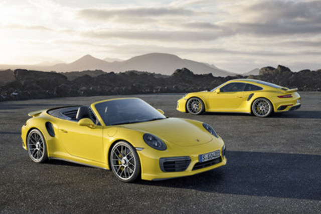 The 2017 Porsche 911 Turbo and Turbo S will be unveiled as a world premiere at the 2016 Detroit Auto Show (CNW Group/Porsche Cars Canada)