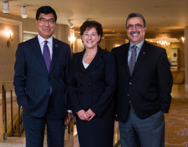 Amit Chakma, Suzanne Corbeil, Feridun Hamdullahpur (Groupe CNW/U15 - Regroupement des universités de recherche du Canada)