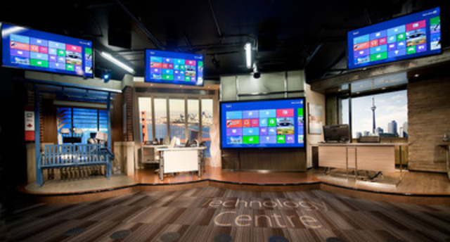 Microsoft's first Canadian technology centre opens its doors in Mississauga giving Canadian businesses access to cutting-edge technologies and industry-leading expertise. (CNW Group/Microsoft Canada Inc.)