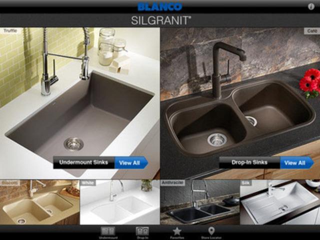 BLANCO CANADA Silgranit Sink Selector App. (CNW Group/BLANCO Canada Inc.)