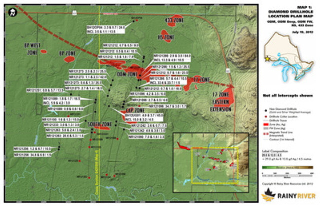 Map 1 - ODM Plan View (CNW Group/Rainy River Resources)