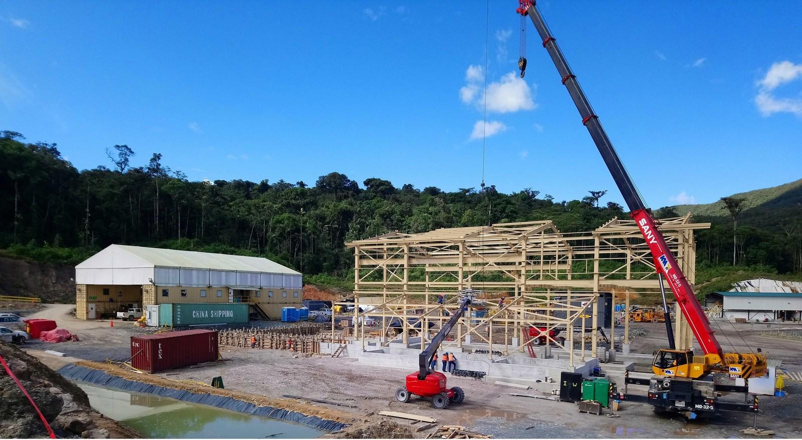 Figure 5. Construction of mine maintenance shop