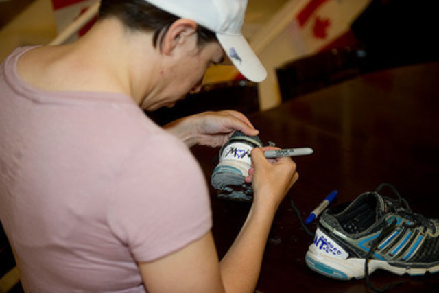 Captain (Capt) Krystal Turner, member of the Mission Transition Task Force (MTTF), decorating her shoes for the  ...
