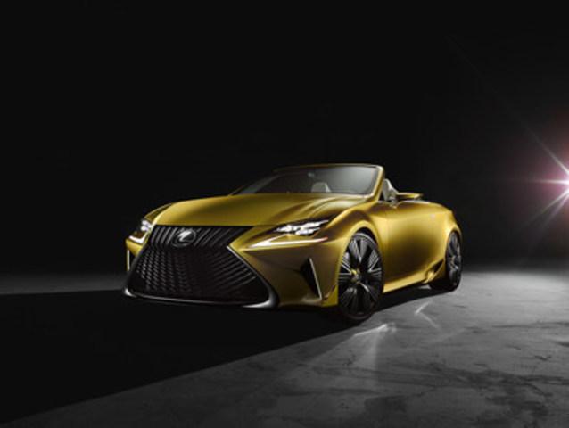 Le superbe concept LF-C2 et la toute nouvelle GS F sont en vedette au sein de la gamme de véhicules Lexus exposée au Salon international de l'auto de Toronto, du 12 au 21 février au Palais des congrès de Toronto   (Groupe CNW/Lexus)