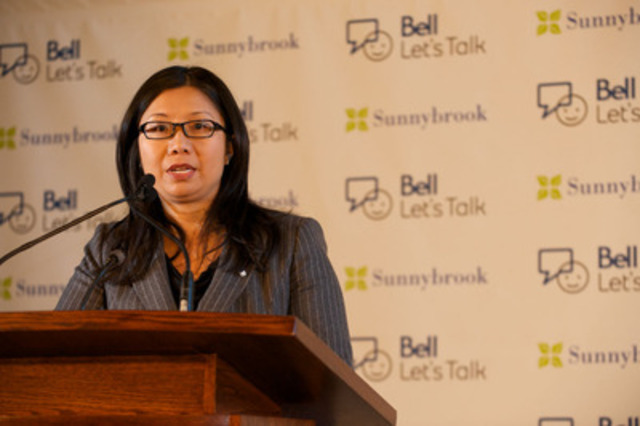Dr. Amy Cheung - Bell Canada Chair in Adolescent Mood & Anxiety Disorders, Sunnybrook Health Sciences Centre (CNW Group/Sunnybrook Health Sciences Centre)
