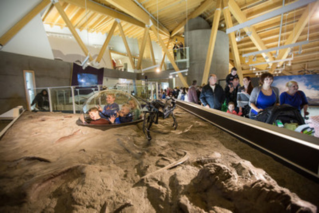 Interactive displays at the Philip J. Currie Dinosaur Museum in Wembley (CNW Group/Philip J. Currie Dinosaur Museum)