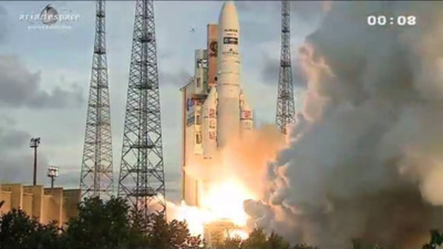 The Launch of EchoStar XVII launched From French Guiana
