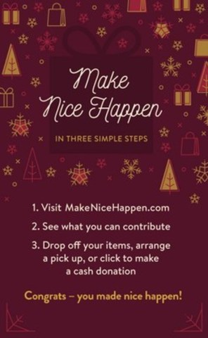 3 Steps to #MakeNiceHappen (CNW Group/Think Shift)