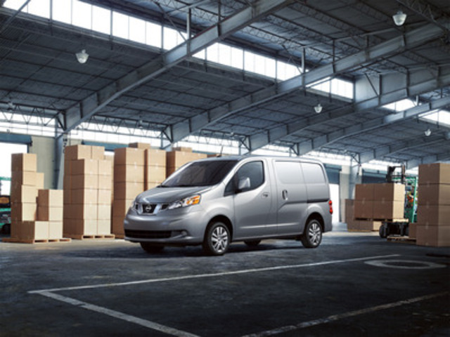 Nissan Canada Inc.'s president, Christian Meunier, presenting the new Nissan NV200 compact cargo van for the first time in Canada at the 2013 Montreal International Auto Show. (CNW Group/Nissan Canada Inc.)