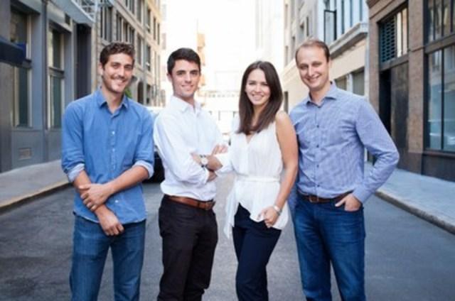 BONE Structure s''installe en Californie. (Gauche à droite :Guillaume Bazouin, Charles-Olivier Bovet, Gabrielle Labrosse, Jorge Gonzalez) (Groupe CNW/BONE Structure)