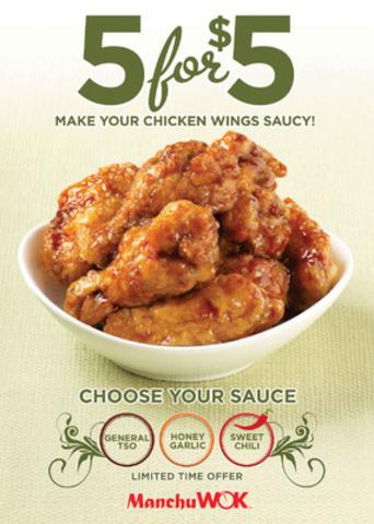 Manchu WOK: Make Your Chicken Wings Saucy! (CNW Group/Manchu Wok Fast & Fresh Chinese Cuisine)