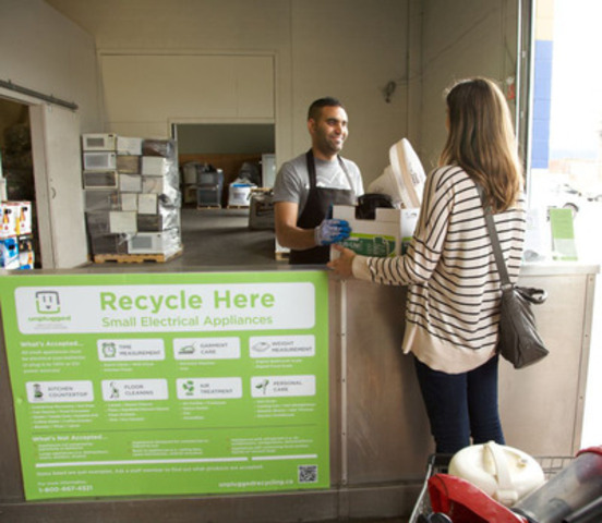 Starting October 1st, 2011 British Columbians can drop-off their old and broken small appliances free of charge at more than 100 locations across the province through B.C.'s newest recycling program, Unplugged. (CNW Group/Canadian Electrical Stewardship Association) (CNW Group/Canadian Electrical Stewardship Association (CESA))