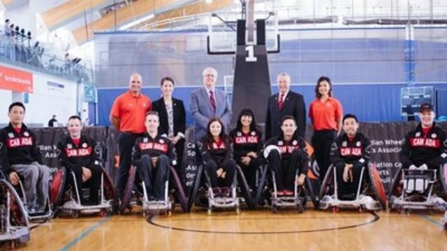 Équipe nationale canadienne de rugby en fauteuil roulant nominée pour les Jeux paralympiques de 2016 (Groupe CNW/Comité paralympique canadien (CPC))