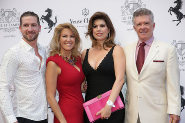 Jonas, Elizabeth Glimenaki, Tanya and Alan Thicke (CNW Group/HOTEL LE ST-JAMES MONTREAL)