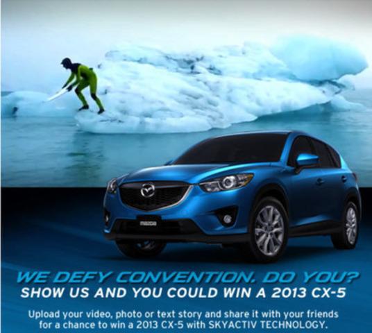 "Mazda Canada ""Defy Convention"" Facebook Contest. (CNW Group/Mazda Canada Inc.)"