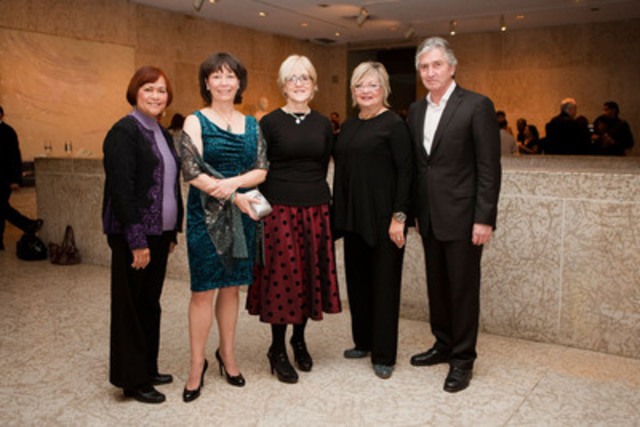 Telefilm Canada and Manitoba Film & Music hosted a special screening of the film Passionflower in Winnipeg, following Telefilm's Annual Public Meeting. (L-R) Minister Flor Marcelino; Shelagh Carter, director; Carolle Brabant, Telefilm; Carole Vivier, Manitoba Film & Music; Michel Roy, Telefilm (CNW Group/TELEFILM CANADA)