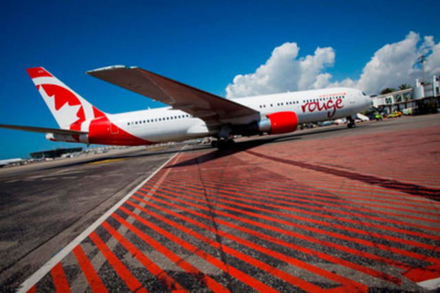 Air Canada rouge arrive à Nice le 23 mai (Groupe CNW/Air Canada rouge)