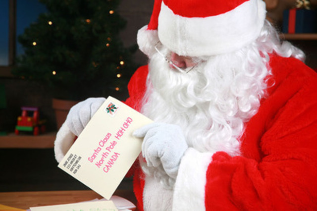 Santa's elves are preparing to help Santa respond to more than a million letters from children all over the world. (CNW Group/Canada Post)