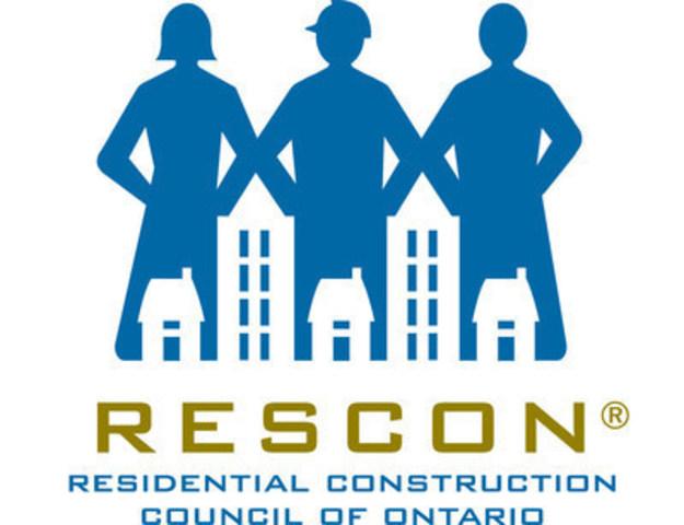Residential Construction Council of Ontario (RESCON) (CNW Group/Residential Construction Council of Ontario (RESCON))