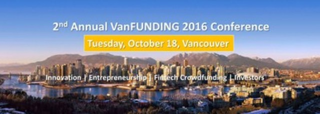 Enterprise conference partners including PayPal Canada, IBM, Vancity, Fasken Martineau and others are gathering with 300 investors, entrepreneurs and industry experts to 'Launch, Connect and Grow' emerging Fintech Crowdfunding markets across Western Canada and the Pacific Northwest via powerful education, pitching and networking opportunities. (CNW Group/National Crowdfunding Association of Canada)